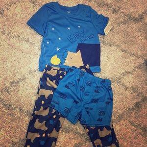 NWT Carter's Boy's 2T 3-piece Pajama Set
